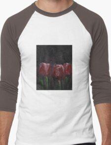 Saucy Tulips Men's Baseball ¾ T-Shirt
