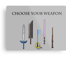 Choose Wisely Metal Print