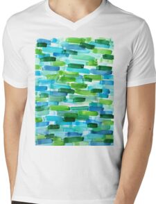 Abstract Painting in WaterColor Mens V-Neck T-Shirt