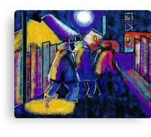Coal mining scene (from my computer digital painting) Canvas Print