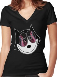 Felix the Cat: Women's Fitted V-Neck T-Shirts | Redbubble