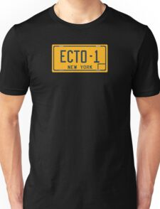 Ghostbusters - Ecto-1 License Plate - Clean Unisex T-Shirt
