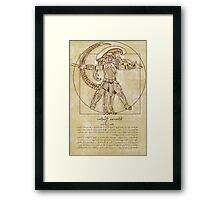 Vitruvian Hunters Framed Print