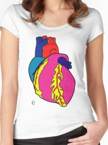 Big Heart Women's Fitted Scoop T-Shirt