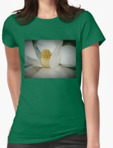 Magnolia macro Womens Fitted T-Shirt