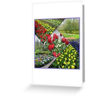 Tulips and Hyacinths - Keukenhof Collage Greeting Card