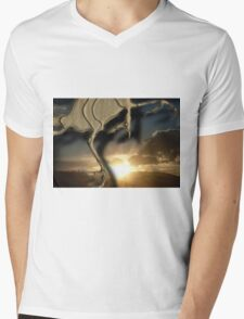 ~father/time~ (one) Mens V-Neck T-Shirt