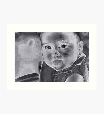 Baby With A Message Art Print