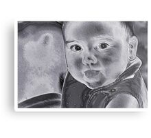 Baby With A Message Metal Print