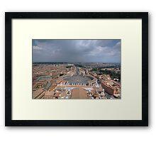 The Vatican City - Rome Framed Print