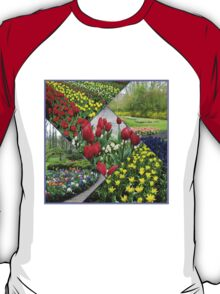 Tulips and Hyacinths - Keukenhof Collage T-Shirt