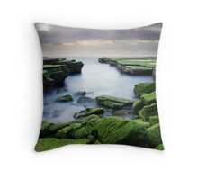 Green Weed Cove Throw Pillow