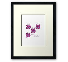 Silly Butterfly Framed Print