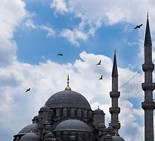 The Blue Mosque Minarets by Mohammed Abdul Quddus