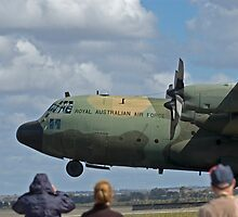 RAAF Hercules Landing by Nathan T