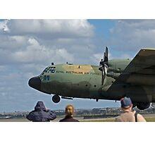 RAAF Hercules Landing Photographic Print