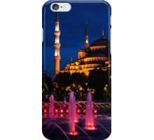 The Blue Mosque At Night iPhone Case/Skin