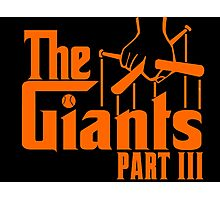 The GIANTS Part III Photographic Print