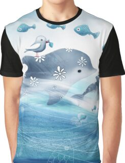 Dolphin Love Graphic T-Shirt