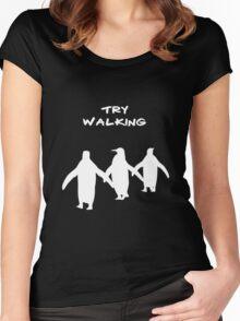 Pingoo white Women's Fitted Scoop T-Shirt