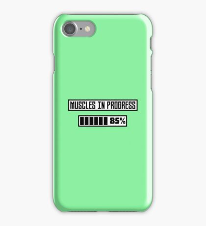 Muscles in progress workout R1l52 iPhone Case/Skin
