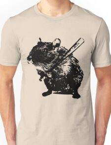 Angry Street Art Mouse   Hamster  Baseball Edit Unisex T-Shirt