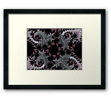 SILVER & PURPLE FRACTALS GIFTS / DECOR Framed Print