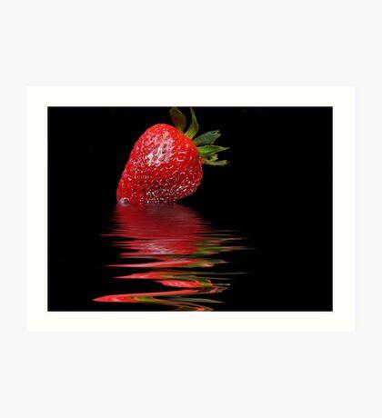Strawberry Ripple Art Print