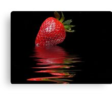 Strawberry Ripple Canvas Print