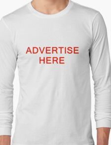 TSHIRT ADVERTISE HERE Long Sleeve T-Shirt