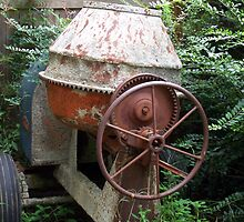 very old cement mixer by tomcat2170
