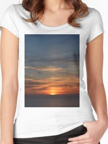 San Francisco Sunset 142 Women's Fitted Scoop T-Shirt