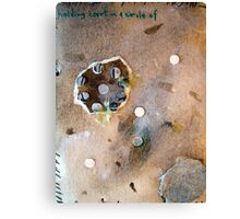 """Small (4) """"holding court in a circle of..."""" Canvas Print"""