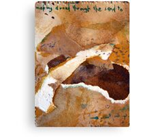 """Small (2) """"making a road through the sand to..."""" Canvas Print"""