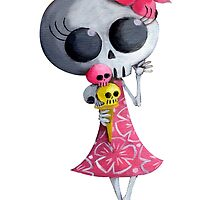 Little Miss Death eating Ice Cream by colonelle