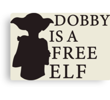 Dobby is a free elf - Type 2 Canvas Print