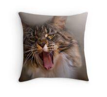 Yawning Gremlin Throw Pillow