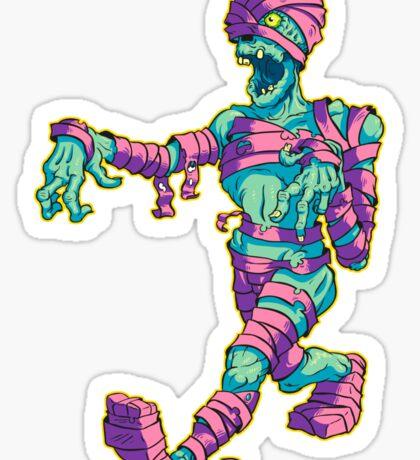 Teal Mummy Sticker