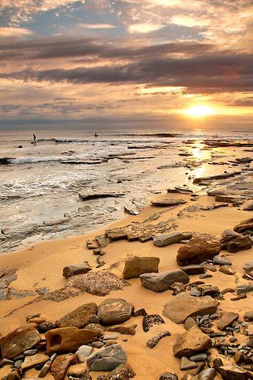 Sunrise Surfers by AdamDonnelly