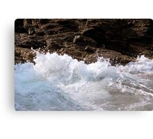 Water against Rocks III - Mediterranean Sea, France. Canvas Print