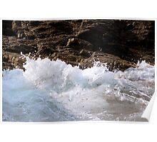 Water against Rocks III - Mediterranean Sea, France. Poster