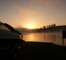 Dawn at Karapiro by Truely