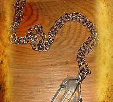 Clear quartz Crystal pendant and link chain by Maree  Clarkson