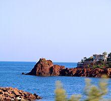 Red Rocks Islands II - Cannes, France. by Tiffany Lenoir