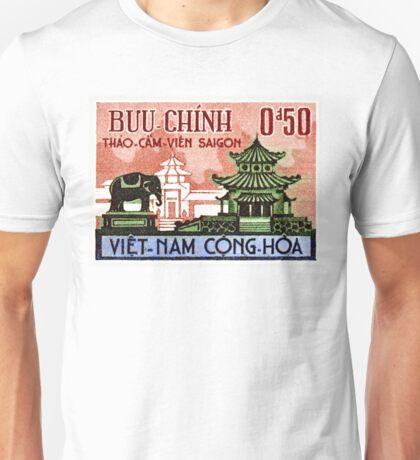 1964 Vietnam Saigon Zoo Postage Stamp Unisex T-Shirt