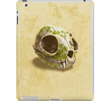 cat skull painted with wasabi flowers iPad Case/Skin