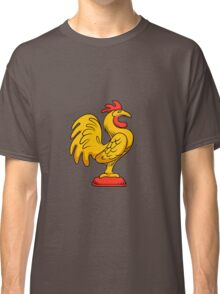 Yellow rooster side cartoon  Classic T-Shirt