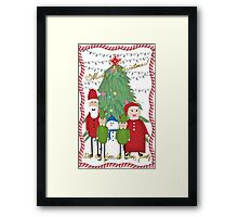 Merry Christmas from the Clauses Framed Print