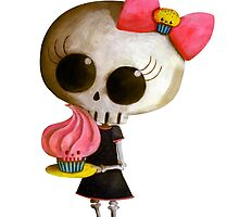 Little Miss Death with Cupcake by colonelle