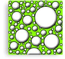 Green Mushroom Design  Canvas Print